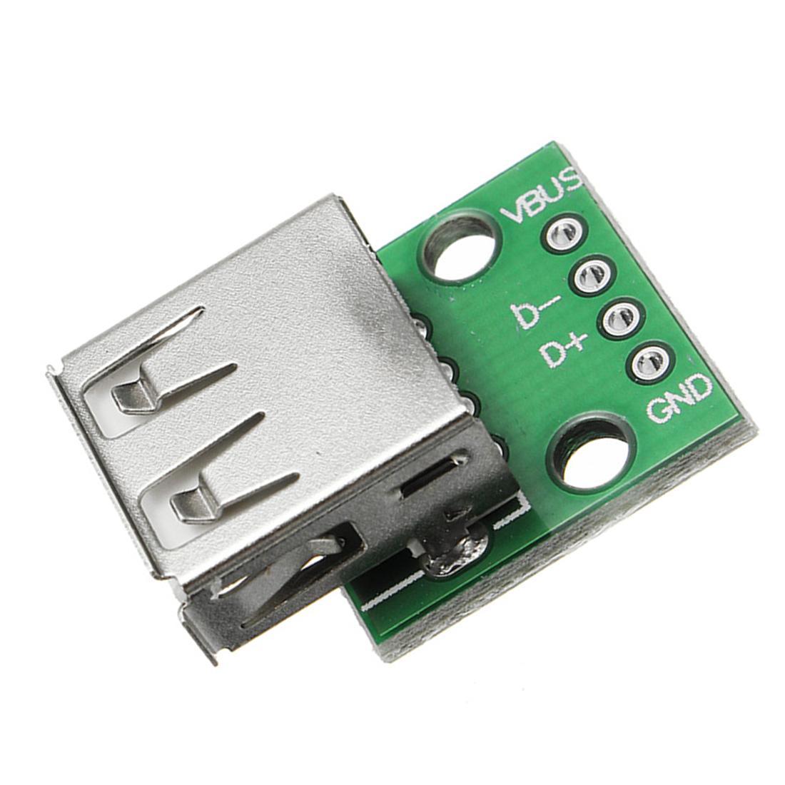 1/5/10 Pcs USB 2.0 femelle tête Socket Pour DIP 2.54mm Pin 4P Module de commutation pour téléphone Câble USB Plugboard
