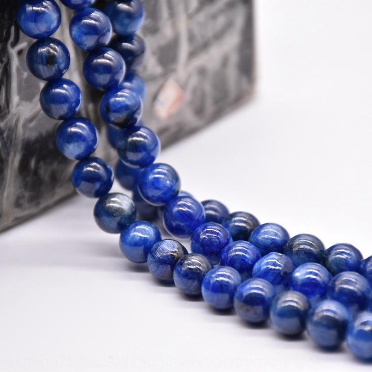 Keke accesorio diy del cristal de grado 6A naturales de cristal azul semiacabados granos de los accesorios hechos a mano de bricolaje