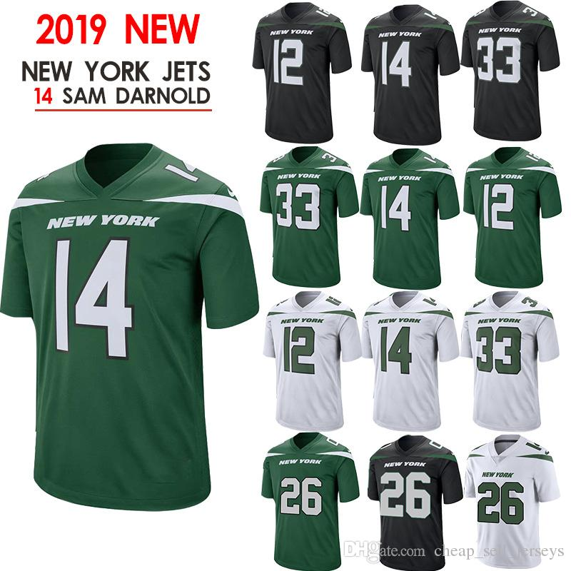 outlet store sale 0fc65 1a49d 2019 26 Bell Jerseys 57 Mosley Jets 14 Sam Darnold Jersey New 2019 New York  33 Jamal Adams 12 Joe Namath 11 Robby Anderson From Cheap_sell_jerseys, ...