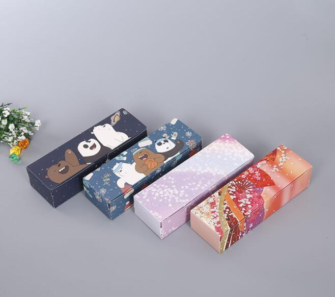 Cartoon Dessert Macaron Box Wedding Candy Chocolates Pastry Packaging Boxes Cherry Sakura Gift n3 Bakeware Box 21*7*5CM
