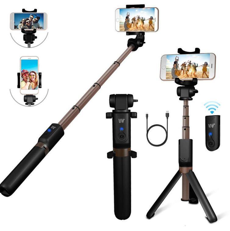 Cyberstor Bluetooth Ausziehbare Selfie-Stick mit drahtlosen Fernauslösern Monopods Stativ für iPhone Huawei Xiaomi Smartphones
