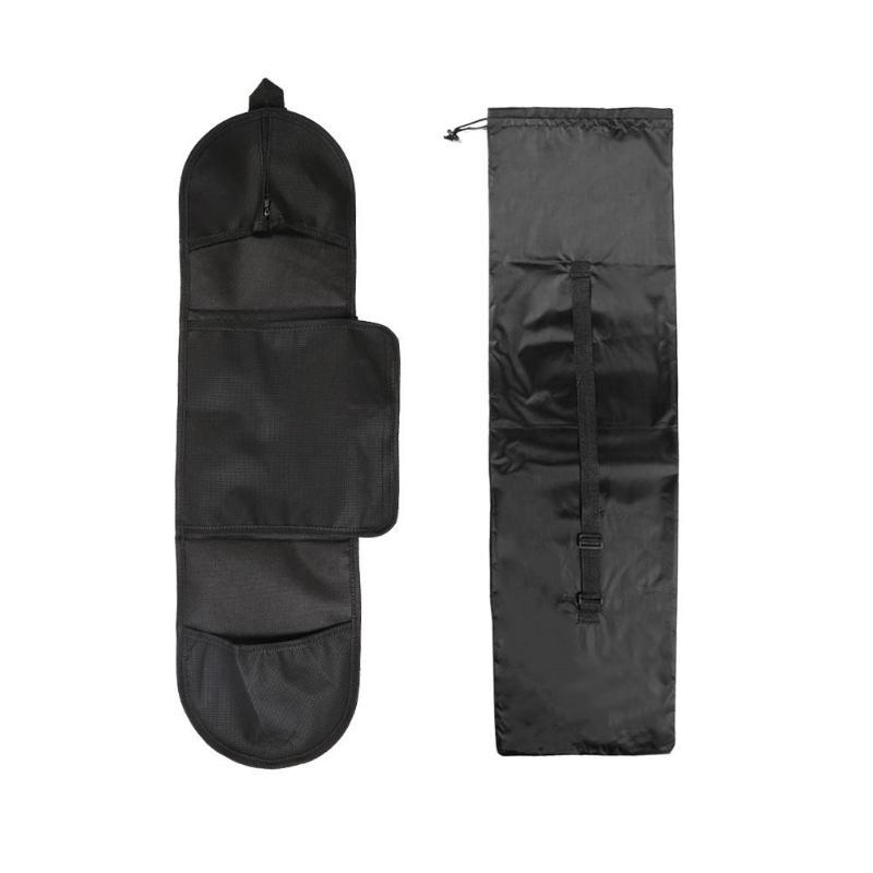 Viaggi portatile Skateboard Carry Bag Outdoor regolabile spalla nero di immagazzinaggio del sacchetto di ballo Consiglio Drift Consiglio Longboard Zaino