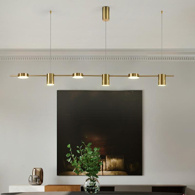 Современные подвесные светильники Nordic hanglamp длинный обеденный стол светильник LED роскошный кулон люстра свет