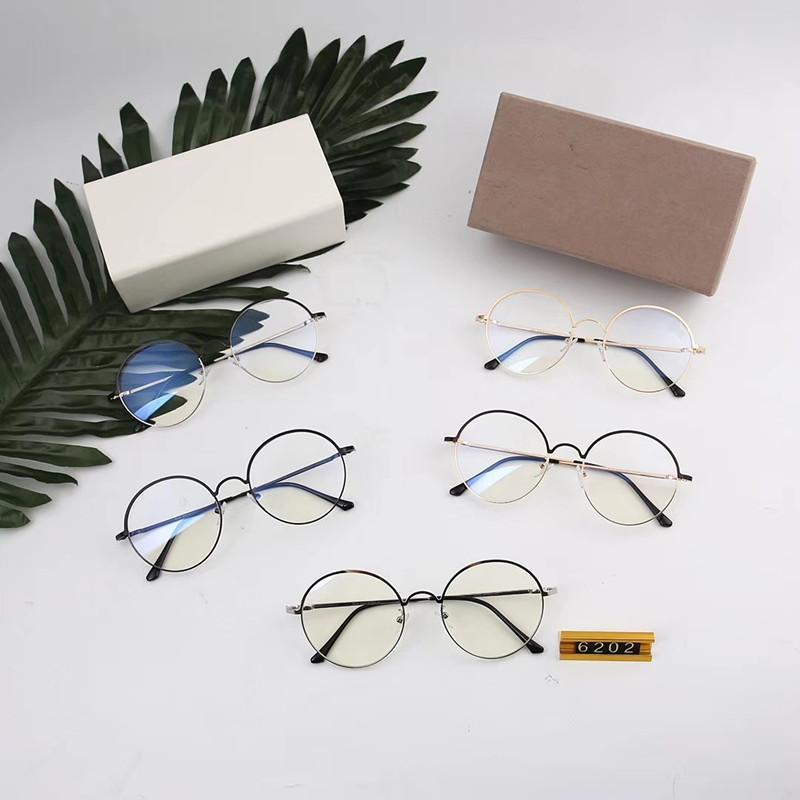 6202 رجل مسيحي إمرأة فنيّ طازج صغير أسلوب anti-blue ضوء نظارات 55mm عدسة 6Color إطار نظارات مع صندوق