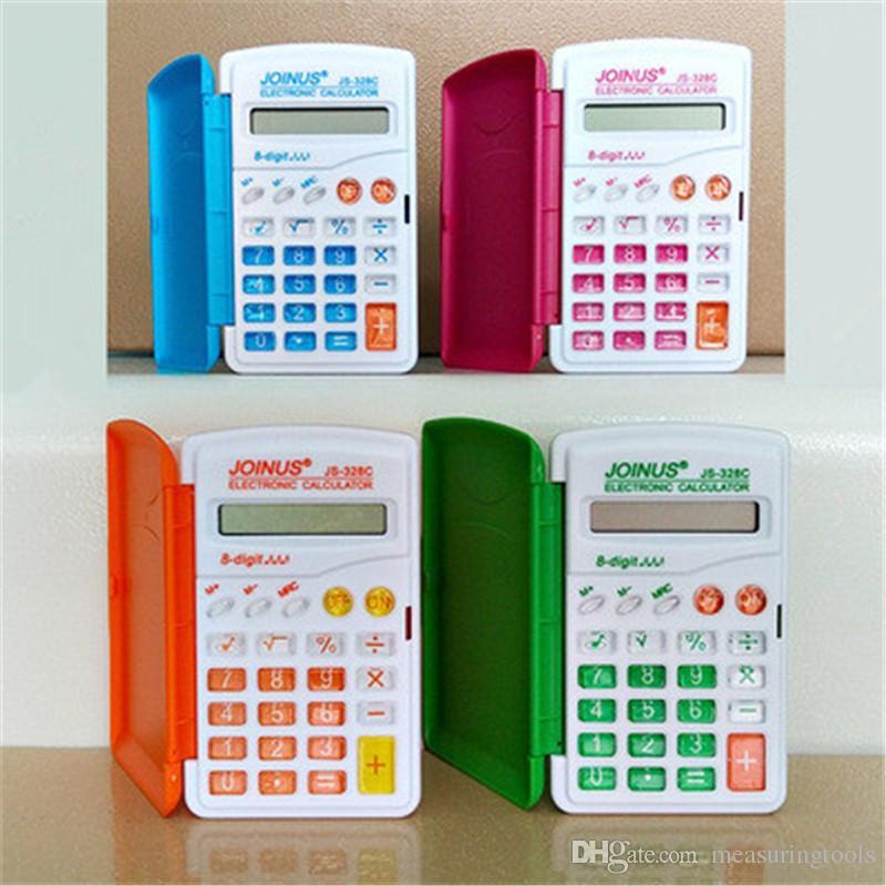 328 Calcolatrice a colori Mini portatile Flip Computer Primary School School Student Calculator Student Stationery