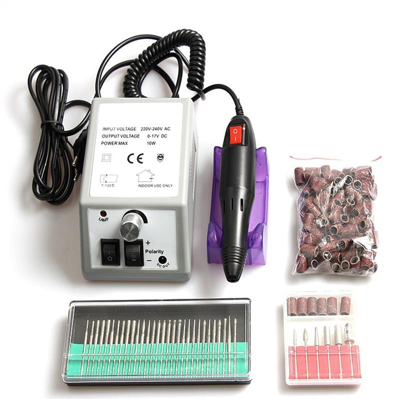 Elektrische Nagel-Bohrgerät-Maschine für Maniküre und Pediküre-Bohrgerät 12W Fräsmaschine Nägel Ausrüstung Set elektrische Nagelfeile EUplug