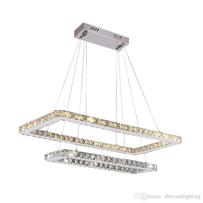 Lüks Avize Aydınlatma Modern 7 Yüzükler Kristal Lamba Oturma Odası Için Modern LED Lustres De Cristal Ev Dekor Işık