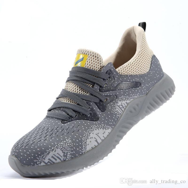 Neue Arbeitssicherheitsschuhe 2020 Art und Weise Sicherheits-Schuhe Ultraleichter weiche Unterseite Männer Breathable Stahl Zehen arbeiten Schuhe Sicherheit Männer