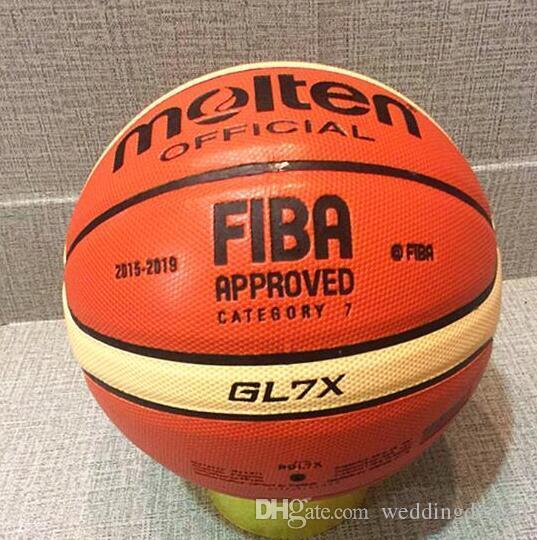 الجملة أو التجزئة العلامة التجارية الجديدة رخيصة GL7X كرة السلة PU الماديه الرسمية Size7 كرة السلة الحرة مع حقيبة صافي + إبرة