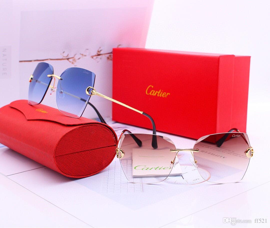 2020 NuevoCartierMens gafas de sol para los hombres del deporte de protección UV de las mujeres Gafas de sol al aire libre retro Sunglasses0006