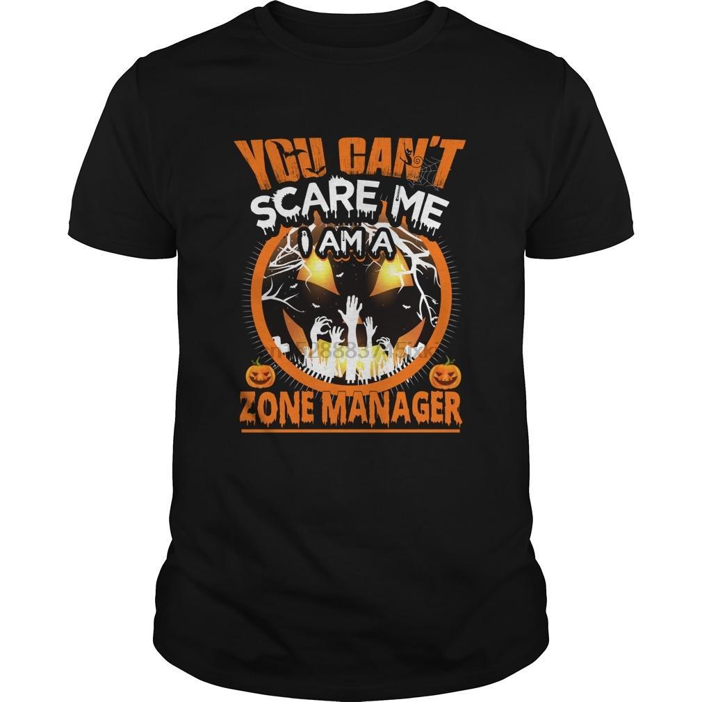 Uomini manica corta maglietta Zone Manager Spavento Halloween fresco Donne tshirt