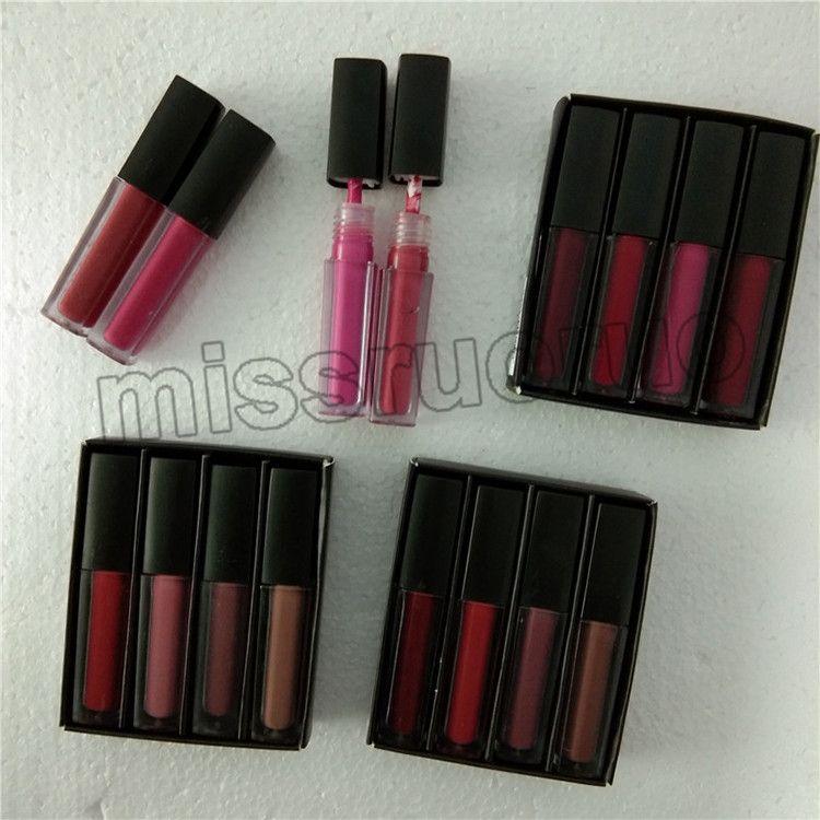 Yüksek quanlity Güzellik Lipgloss kırmızı / pembe / kahverengi / çıplak baskı lipgloss ruj, mini sıvı mat elle toplanmış