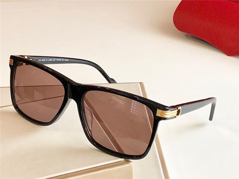 Luxury- Neue Modedesigner-Sonnenbrille 0160 Quadratmeter einfacher Rahmen großzügig Avantgarde-Stil Schutzbrille Top-Qualität mit Fall