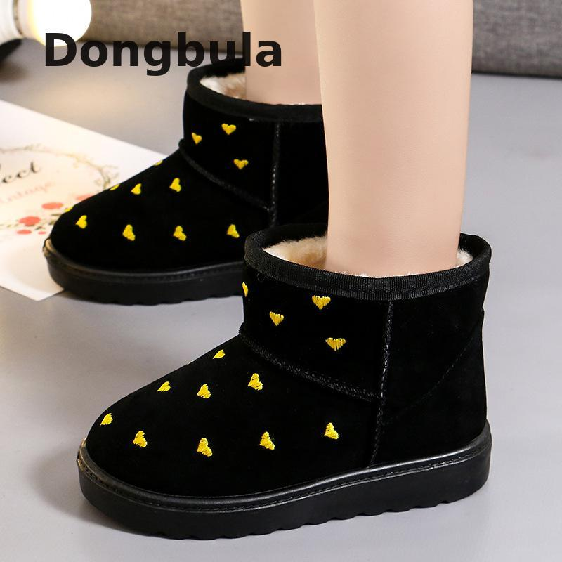 Girl Fur Snow Boots Warm Ankle Boots Classic Cotton Boots