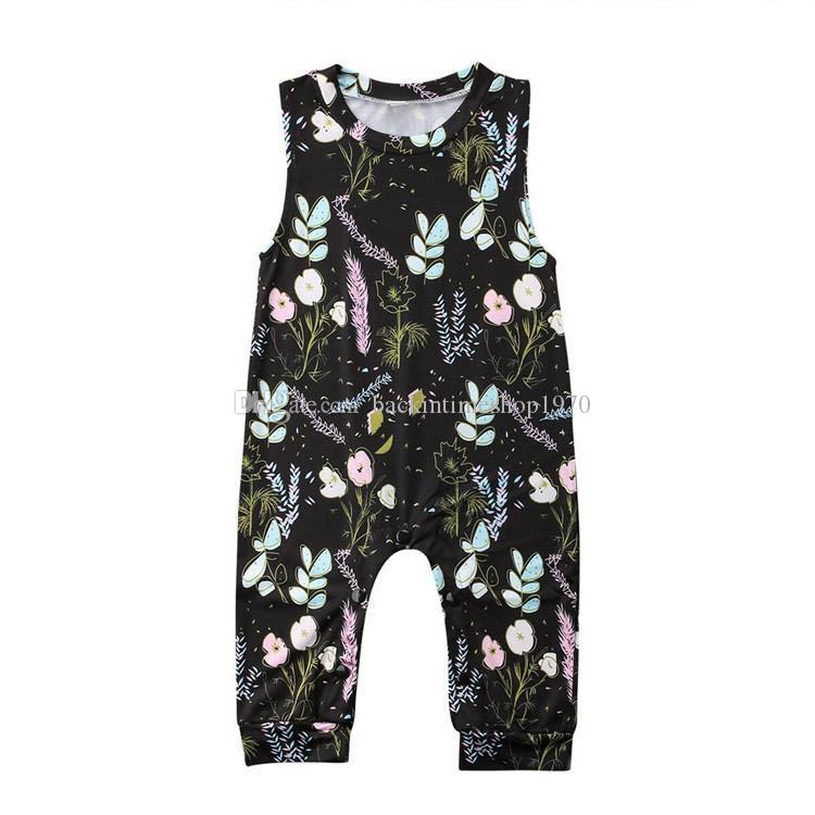 Sleeveless Newborn Baby Girls Denim Romper Bodysuit Jumpsuit Outfit Sunsuit 0-2T