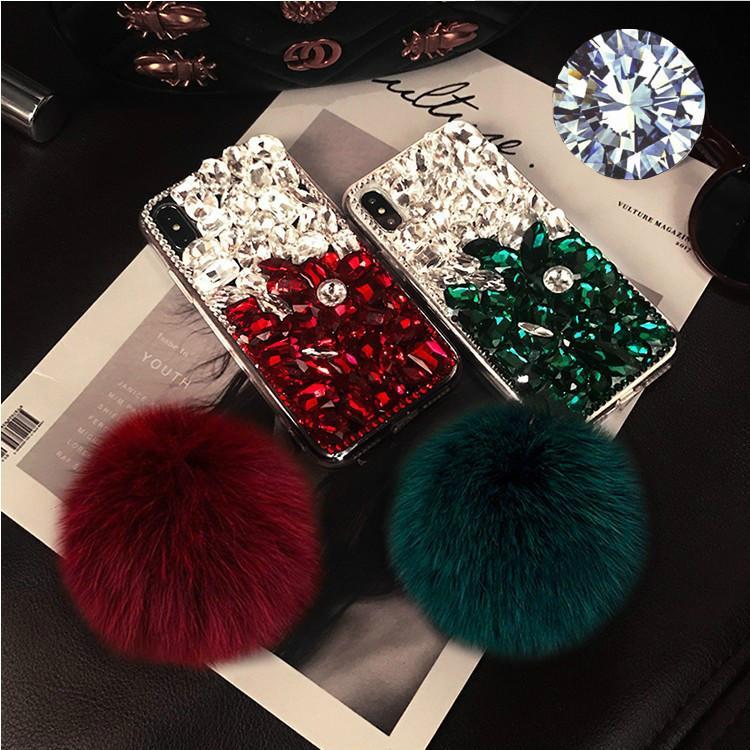 Luxo Celular Caso Designer de Samsung Nota 10 Note10P S10 S10e S10lite S9 S8 Iphone XS MAX XR X / XS 7P / 8P com Hairball All Inclusive