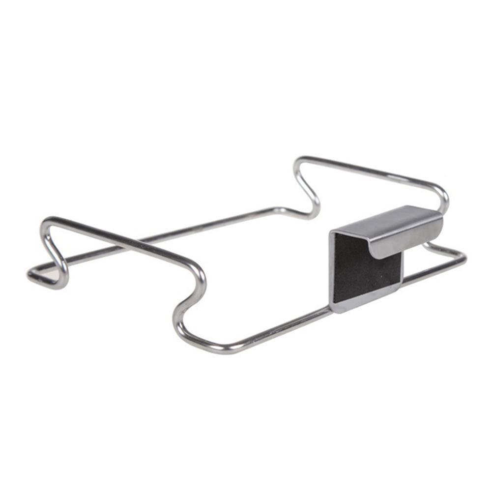 Bolsa de basura de almacenamiento de titular del estante de acero inoxidable colgador de puerta Domésticos de Cocina HG99