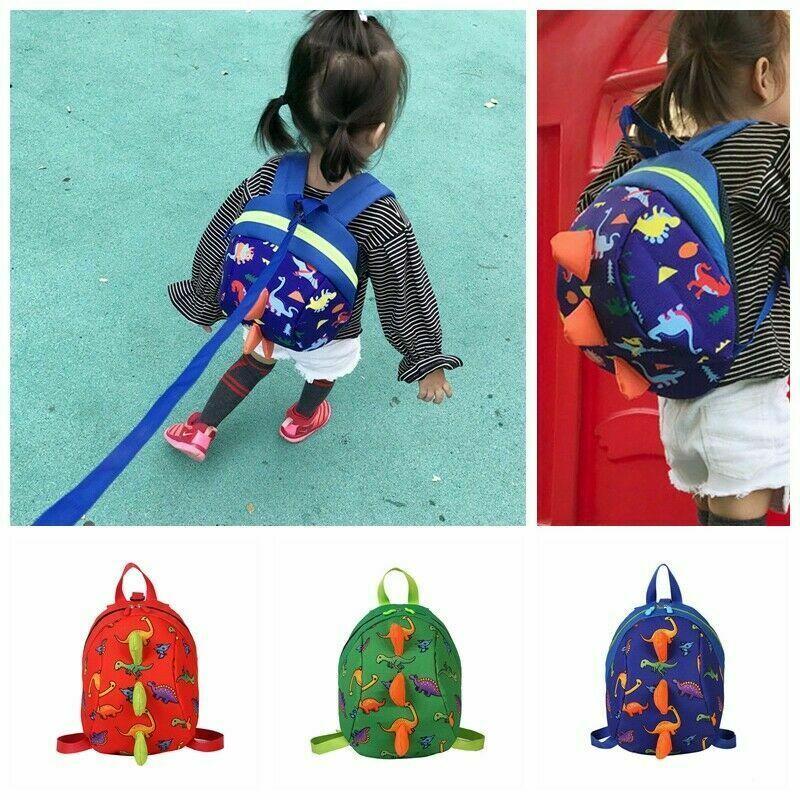 Kids Baby Safety Harness Backpack Leash Toddler Anti-lost Dinosaur Shark Bag