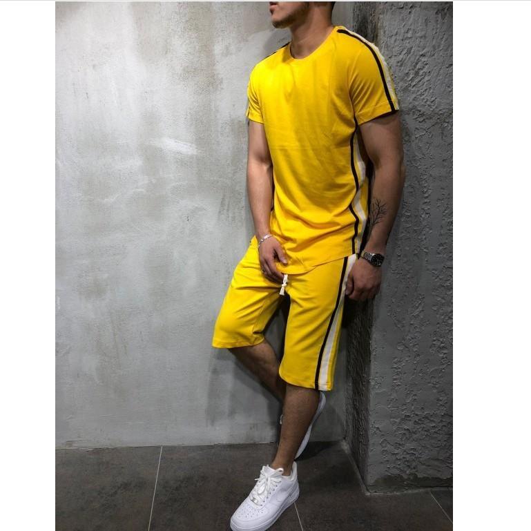 Survêtements pour hommes de marque New Mens été survêtements Survêtements T-shirts Shorts 2pcs ensembles de vêtements Casual Sports Hiphop Street Suits