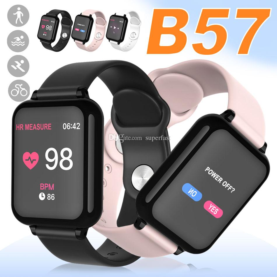 Smart Bracelet B57 Fitness Tracker Smart Watch Heart Rate Watchband Smart Wristband For Apple Android Cellphones with Retail Package