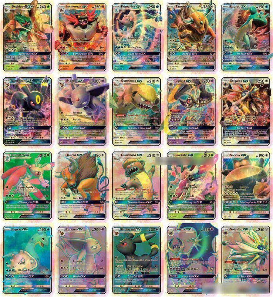 20шт Gx карты высокая Hp флэш-карты новый Charizard Tagteam для детей игрушка Dhl Бесплатная доставка