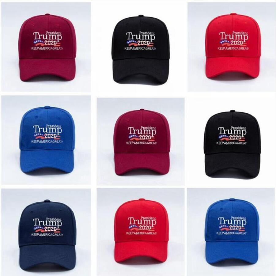 Donald Trump 2020 Baseball Cap 3D Embroidery Letter Keep America Great Again Washed Sport Outdoor Hats DDA308
