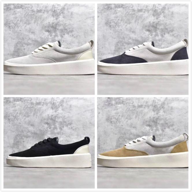 Aggiornamento Fear Of God x Scarpe uomo casual della stagione 5 Suede Skateboard scarpe Italia Luxury Slip-On FOG Fashion Designer Shoes