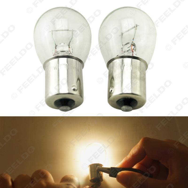 자동차 10PCS 24V 1156 BA15S S25 P21W 자동 복귀 유리 램프를 켜고 꼬리 전구 트럭 버스 표시 할로겐 램프 # 1226