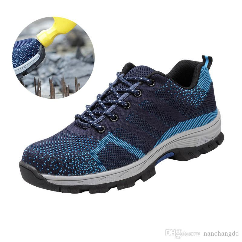 Новый Нерушимая Обувь Для Мужчин И Женщин Стальным Носком Безопасности Сапоги Прокол-Доказательство Кроссовки Дышащей Обуви