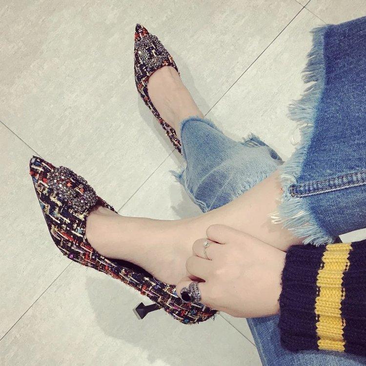 Flach mout professionellen Damenschuhe spitzes Weinglas und sexy Schuhe mit hohen Absätzen 2019 neuen Herbst-Schuhe einlagige