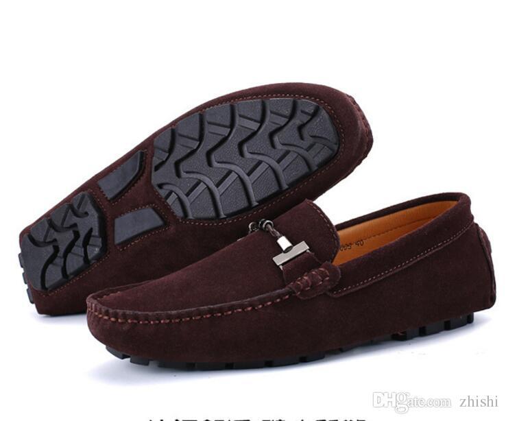 남성 모카신, 소프트 맨 아래 숨 운전 로퍼 신발 가죽 스웨이드 대형 레저 신발, 남성 로퍼, 디자이너 신발, G5.24