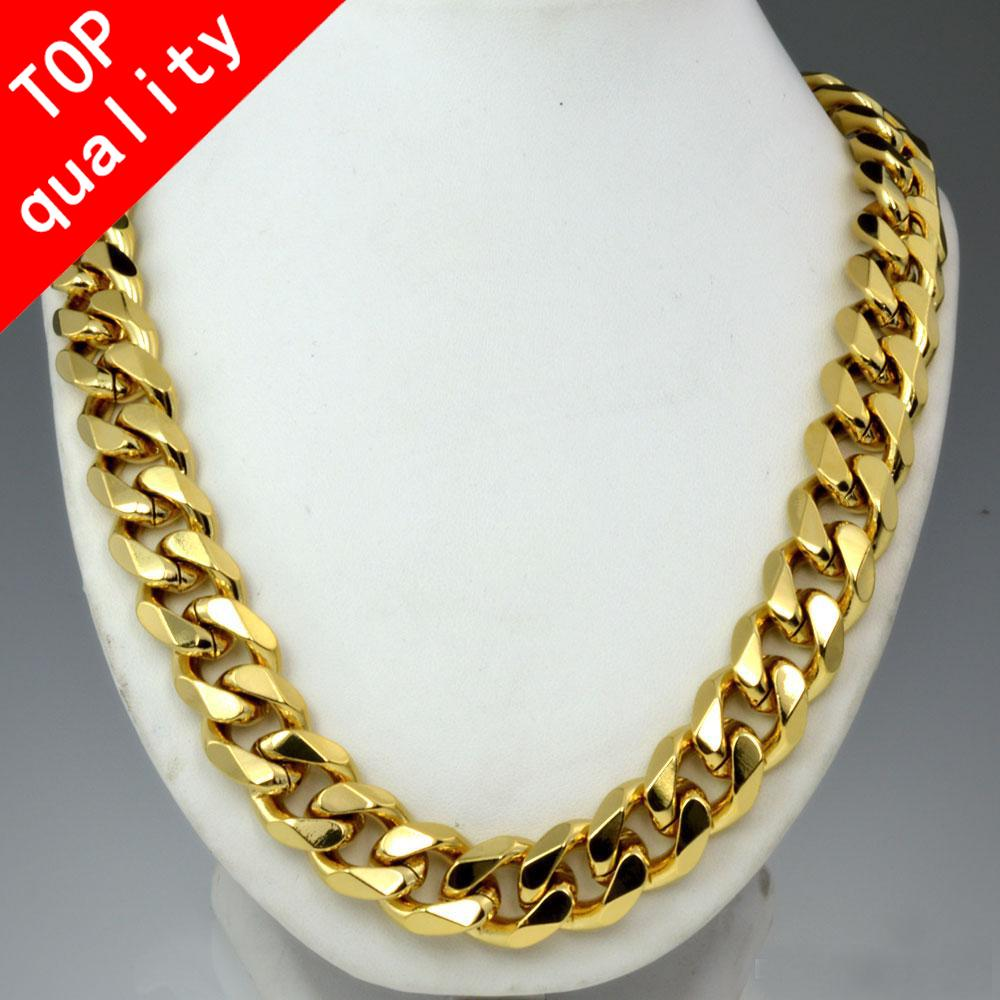 collier or homme 60 cm