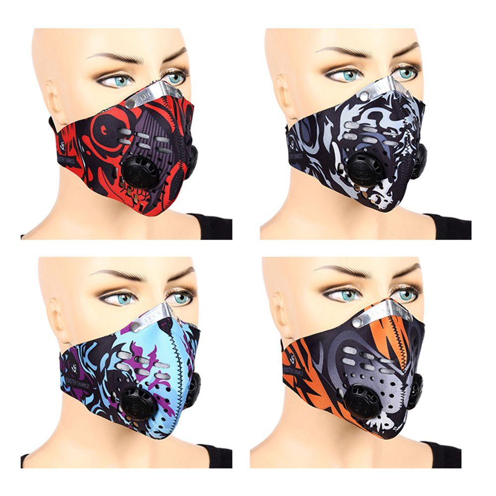 Дышащие угольные фильтры маска для лица здравоохранение мужчины спорт велоспорт велосипед пыль смог защитная половина лица неопреновая Маска PM2.5