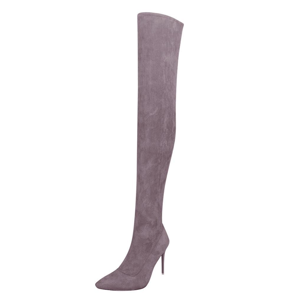 SAGACE Plus Size 35-43 Moda sopra il ginocchio a metà coscia Stivali Donne sexy autunno sottile piattaforma degli alti talloni delle donne della donna dei pattini di goccia 826