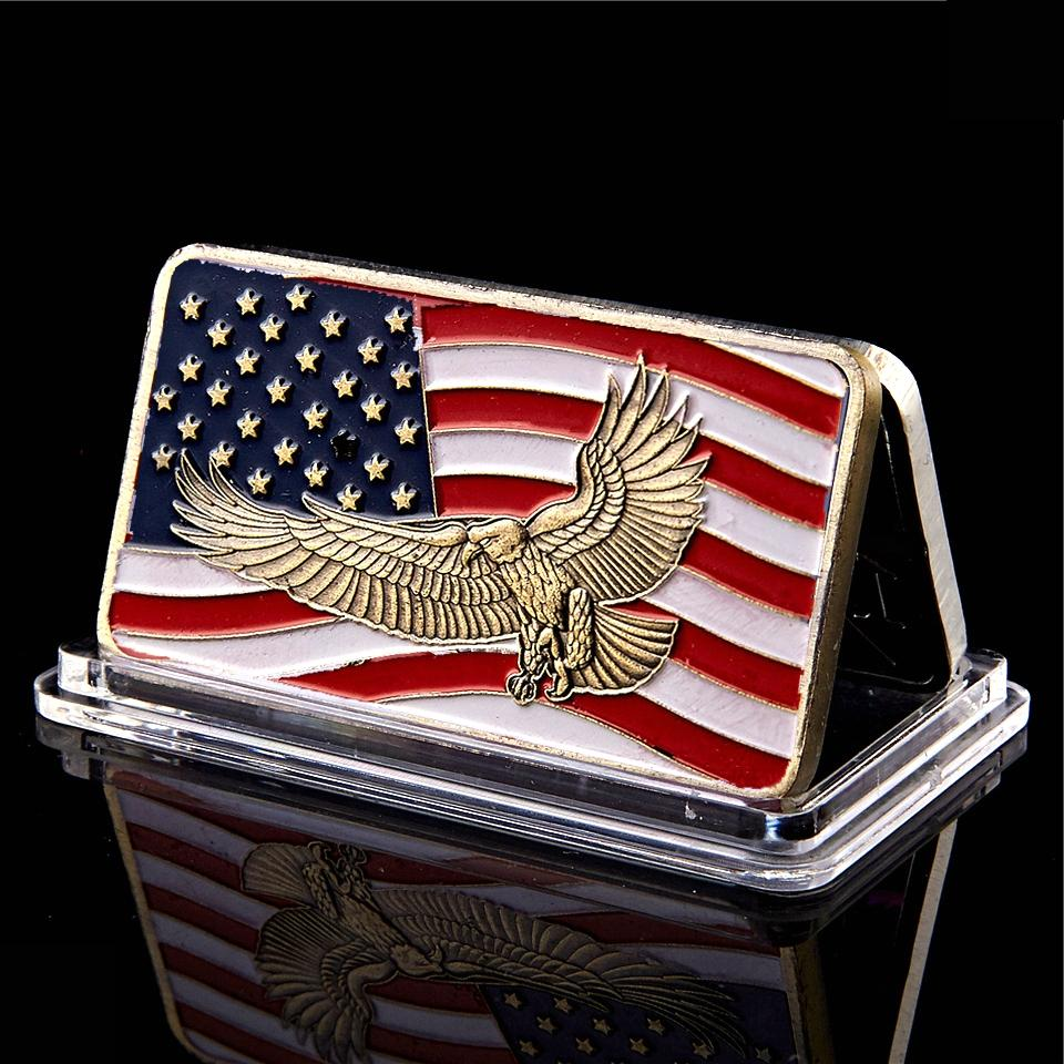 Ohio Standing With Honor Dignity Respest Patriot Guard American Eagle Flag 1oz Gold Plated Commemorative Coin
