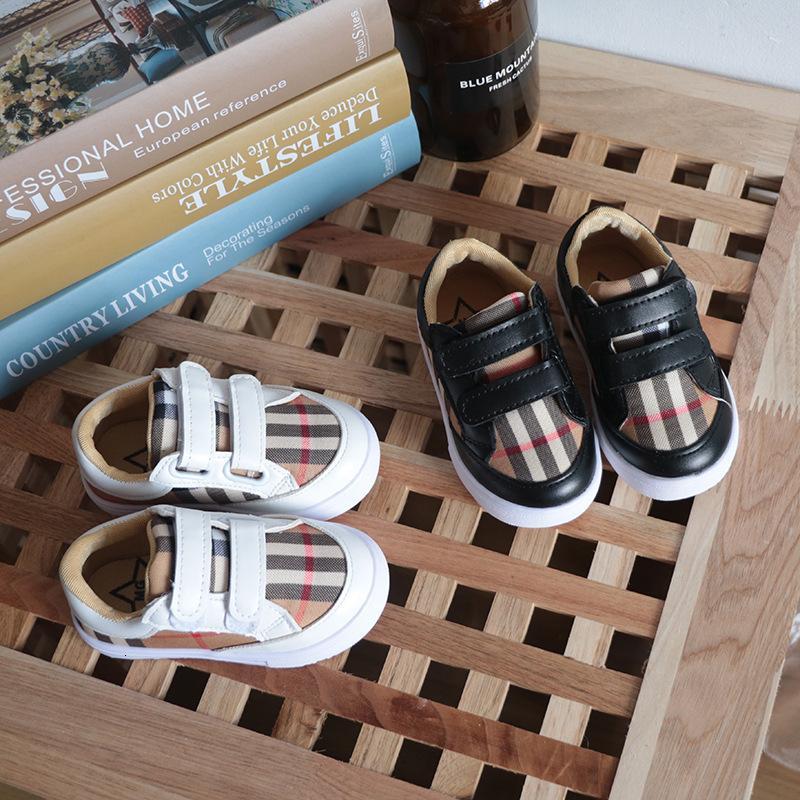 Осень Детской Цветочных малышей Девушка Мода Спортивная обувь Дети Дети Малой белые ботинки младенец Skate Мужская девушка Повседневная обувь
