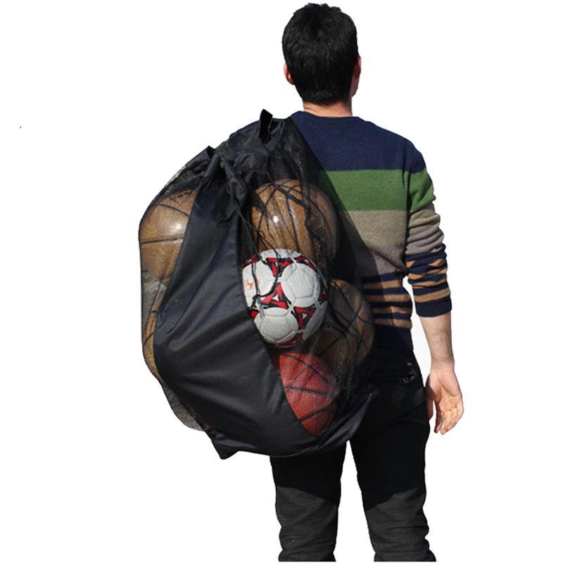 Portátil de Futebol Da Juventude Curso Traing Mesh Bag Mochila De Lona Alça de Ombro Ajustável Treinador Equipamentos Esportivos Acessórios