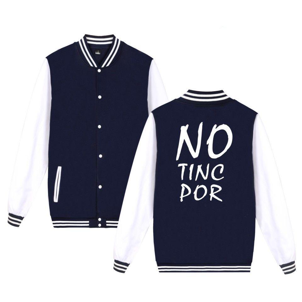 NO TINC POR Jacket Spain Newest Fashion Men Women Clothing Letter Print Against Terrorism Baseball Uniform