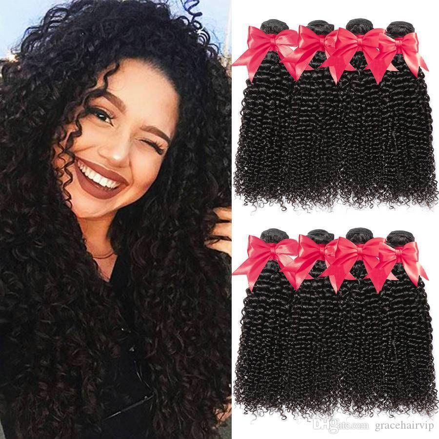 رخيصة البرازيلي مجعد 4 حزم الشعر العذراء 9A عميق مجعد الشعر العذراء الإنسان مصنع أسعار الجملة