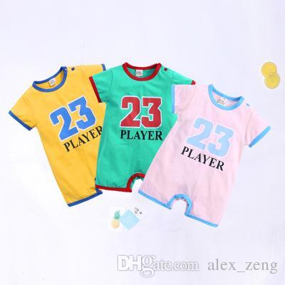 رسائل رومبير طفل الاطفال فتاة فتى عدد 23 الرضع رسالة قصيرة الأكمام السروال القصير الصيف ملابس حللا الرياضة الأطفال