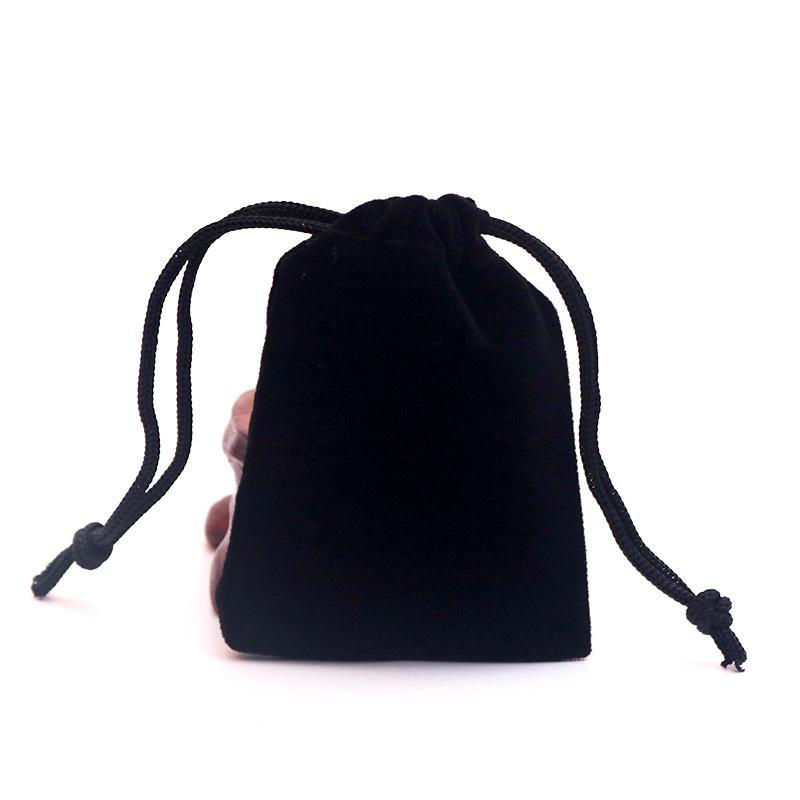 20pcs grande taille noir velours cordon velours sacs de poche sacs de noël valentines velours cadeau sacs sacs de bijoux de mariage