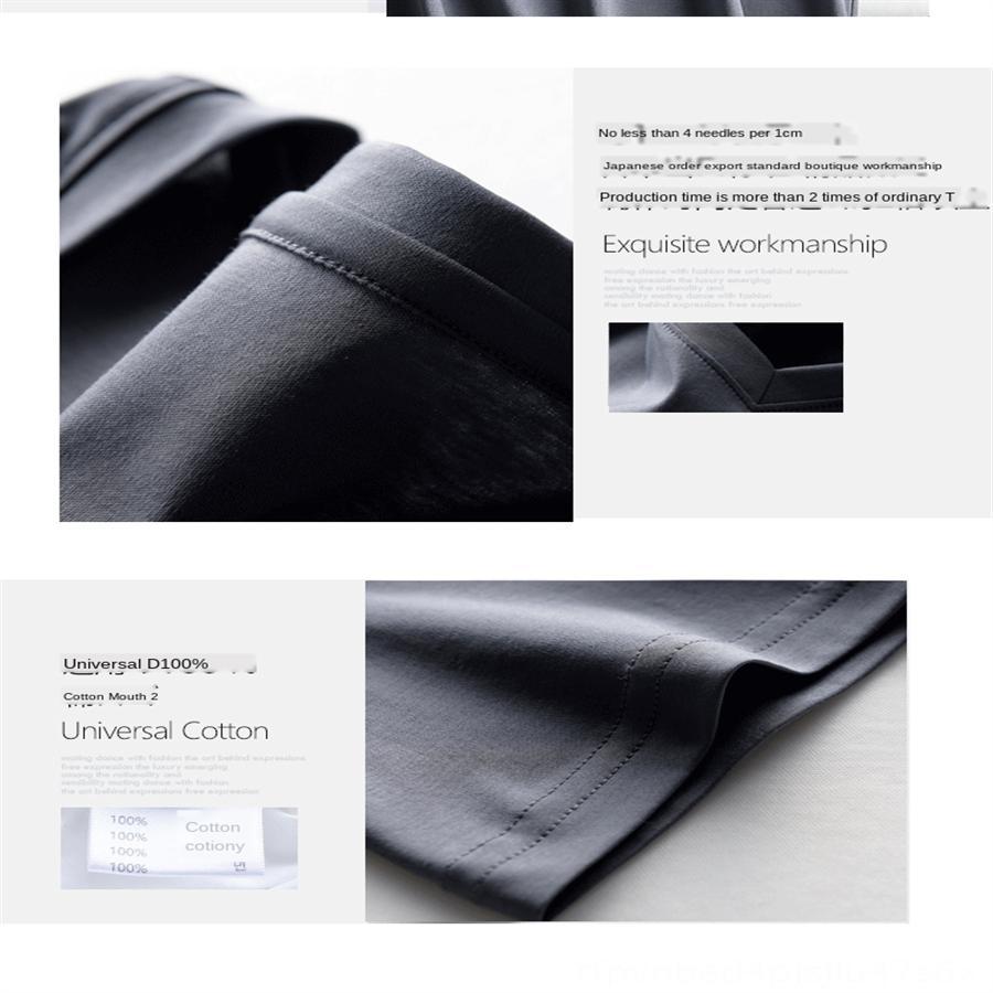 V-cuello de la camiseta de hielo hembra superior de seda mercerizado de algodón mercerizado de manga corta femenina 2020 material delgado Summer superior del algodón 70 80 de base