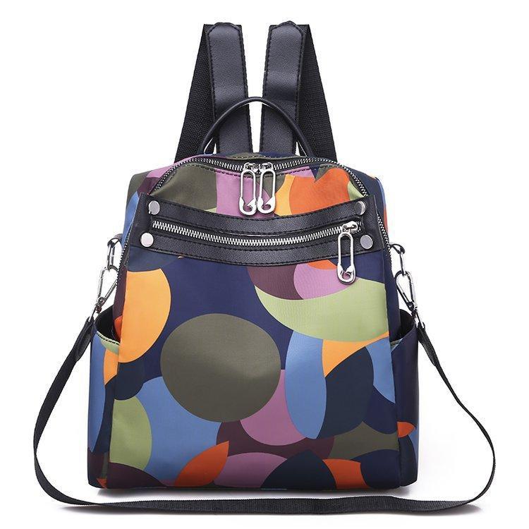 New Style Rivet Oxford pano Hot venda Waterproof Elegante Viagem Backpack Sports WOMEN'S Bag Atacado em nome de 7021