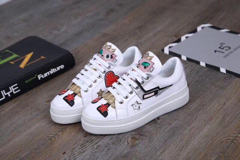 Hot Luxury Popular Leather Casual Shoes Women Men Designer Sneakers Shoes Fashion Leather Lace Up Shoe Mixed Color 0701642