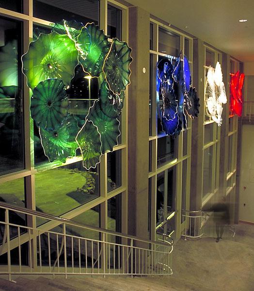 Decor Art parede de vidro exclusivo Villa Iluminação Guangdong China Cheap Contemporary decorativa Wall Art Colorido Murano