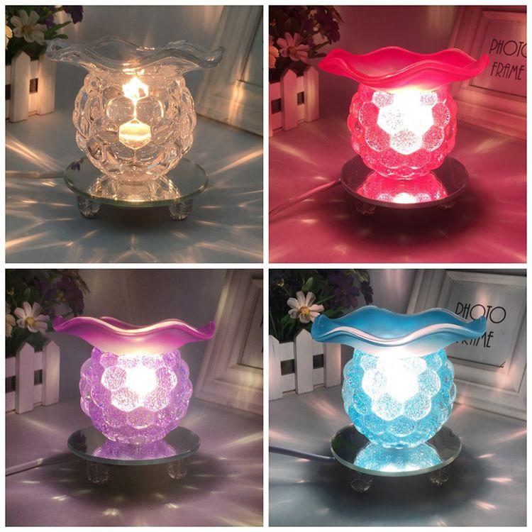 الزجاج الإلكترونية مبخرة كرة بلورية الشكل رائحة الضوء على صالون تجميل اليوغا العطر مصابيح الإبداعية الشعبية 15yq B R