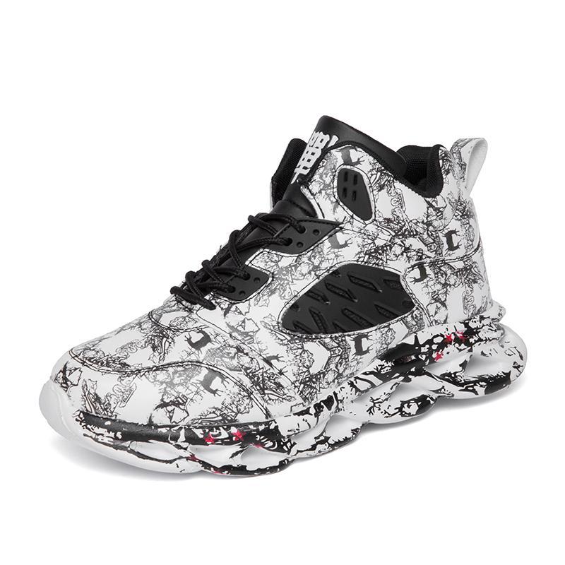 Mode Hip Hop Hommes Street Dance Chaussures High Top Sneakers Eté Automne Chaussures Mesh Casual garçons Zapatos Hombre