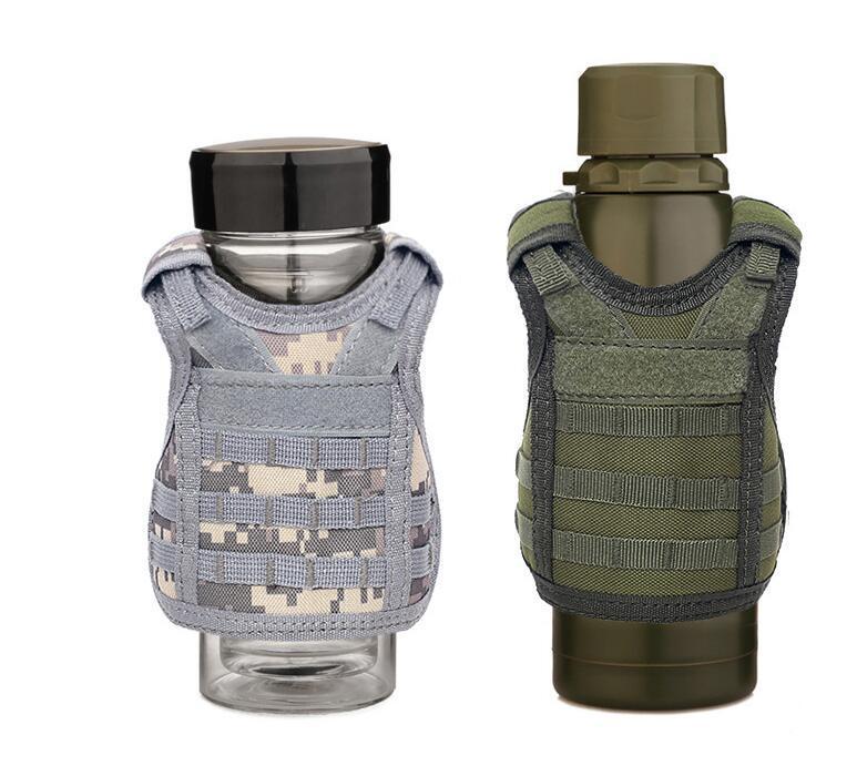 Taktik Askeri Bira Kapak 7 Renkler Bira Şişesi Yelek Şişe İçecek Set Ayarlanabilir Omuz Askıları Parti Malzemeleri OOA7068