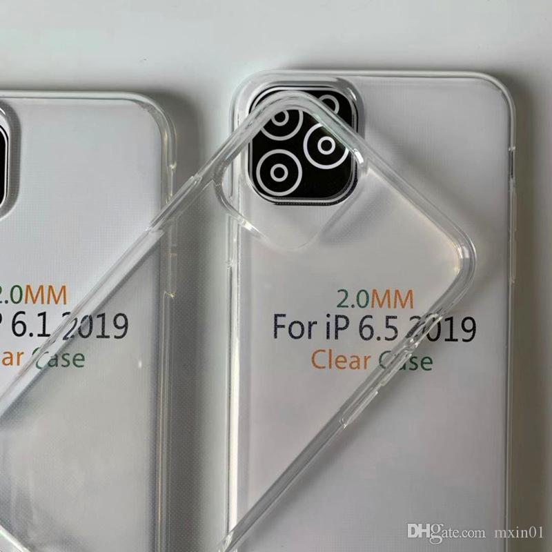 2MM Clear Soft TPU Armor Case For Samsung A90 5G S11 Plus S11E A51 A71 Huawei Honor V30 Pro Nova 6 SE RedMi Note 8 8T 10 OPPO Reno 2 2F 2Z A