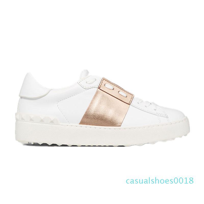 sport nuovo arrivel Top progettista Scarpe Bianco Mens donne rivestono di pelle casual Aperto SNEAKERS BASSE Size 35-46 c18